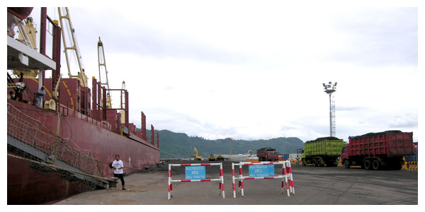 Ship Loading at Teluk Bayur port